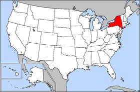 Location of New York State - Map