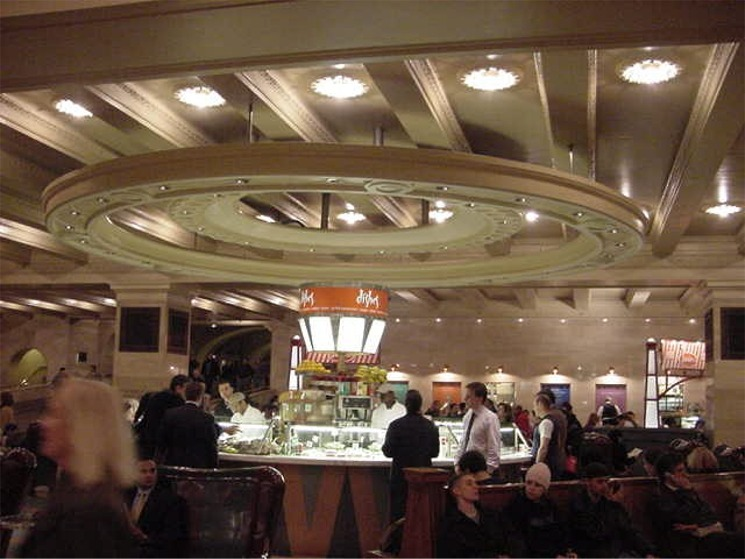 Lower concourse food court in Grand Central Terminal in New York City