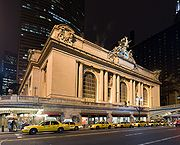 Grand Central Terminal along 42 Street at Night