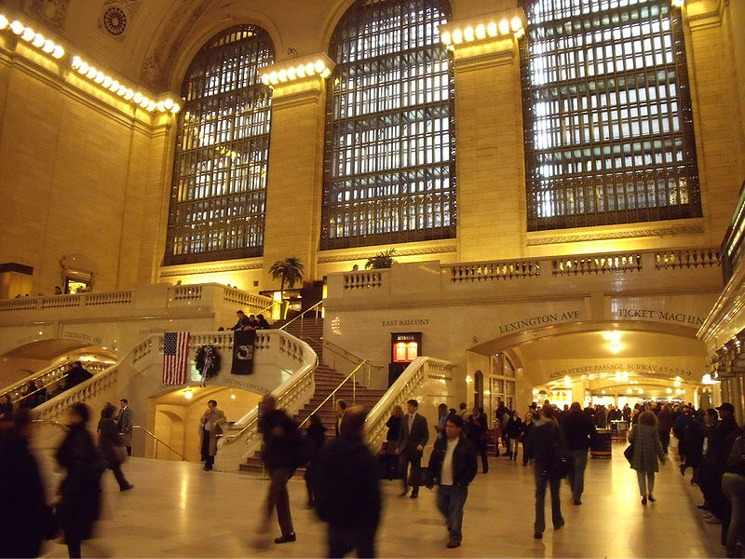 Inside Grand Central Terminal New York City on a weekday morning