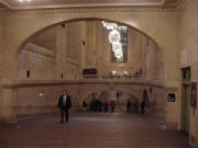 Ramp to the lower concourse in Grand Central Terminal in New York City