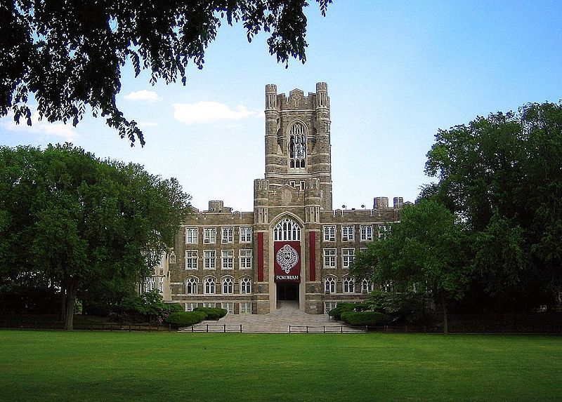 Fordham University's Keating Hall in The Bronx New York City