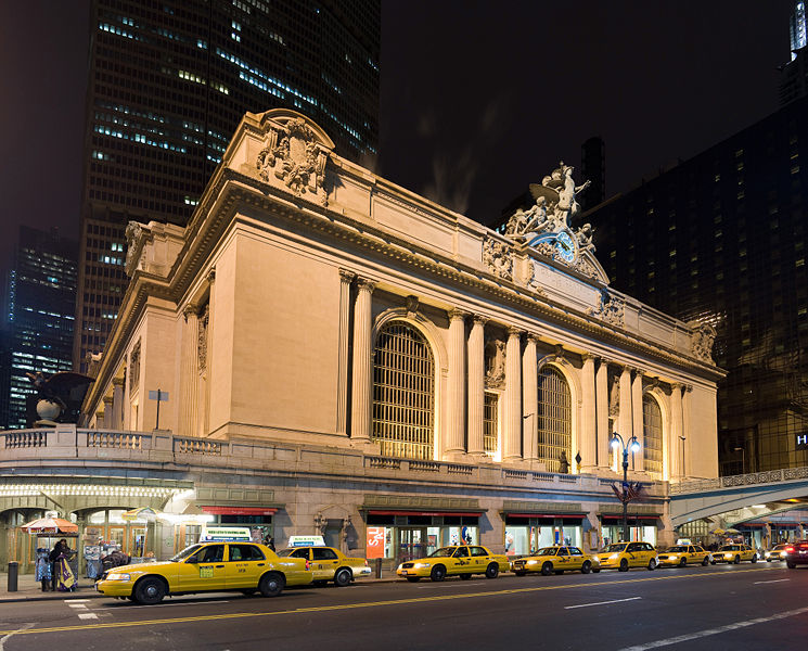 Grand Central Station New York City Outside at Night