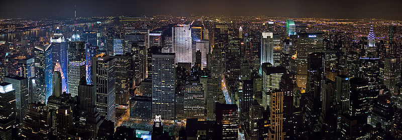 View of the Midtown Manhattan skyline from the Empire State Building