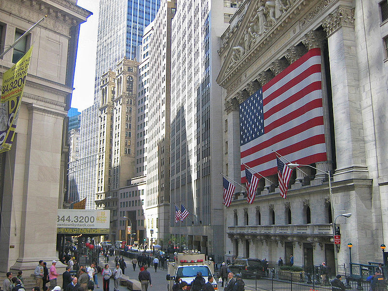 New York Stock Exchange on Wall Street New York City