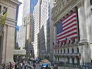 New York Stock Exchange on Wall Street NYC