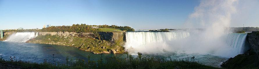 Niagara Falls Panorama - American Falls, Bridal Veil Falls and Horseshoe Falls