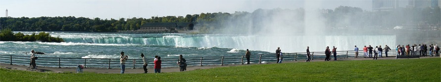 Panoramic American view of the Horseshoe Falls