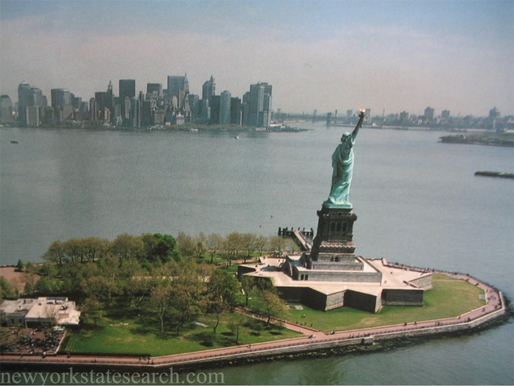 Aerial Photograph of Liberty Island