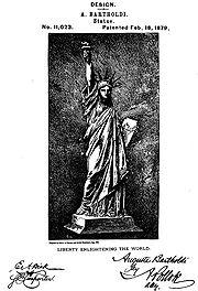 Bartholdi's design patent