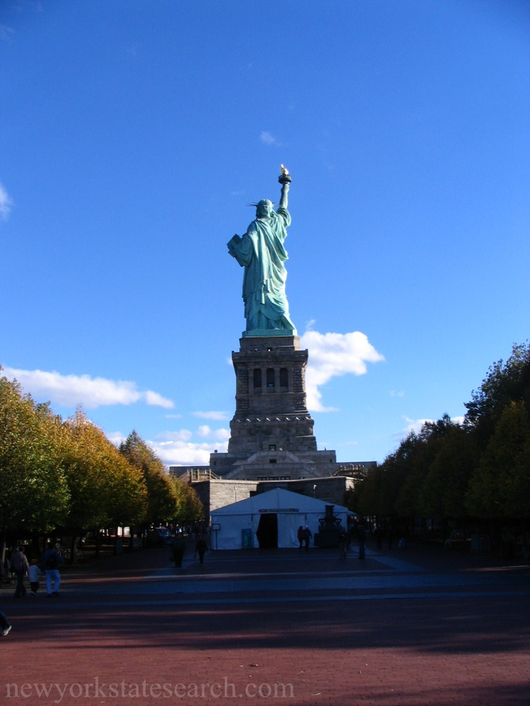 Statue of Liberty and Mall